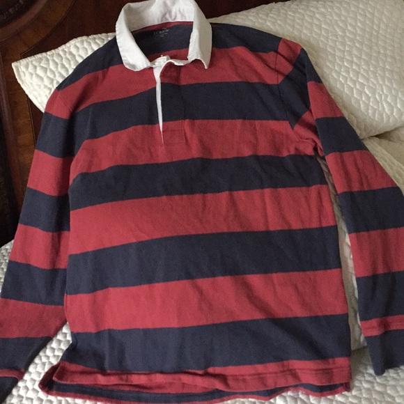 adcf75a2722 J. Crew Shirts | J Crew Mens Large Rugby Shirt | Poshmark